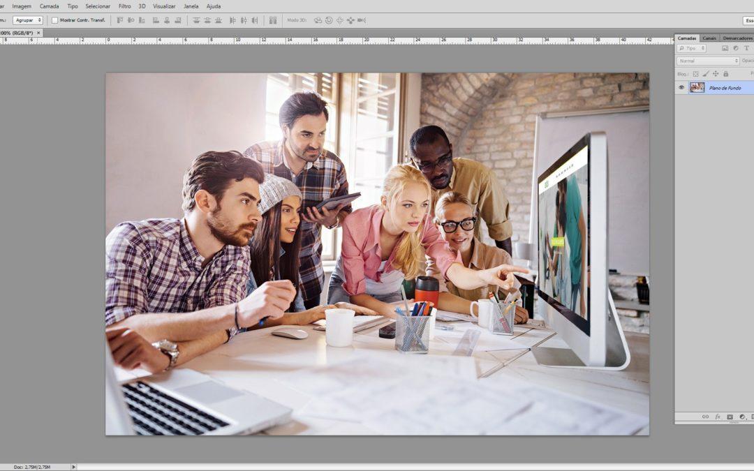 Por que o Photoshop não é opção para editoração gráfica?